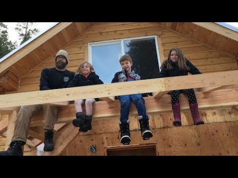 Mountain Dream Home #47: Timber Frame Roof -- with rafters