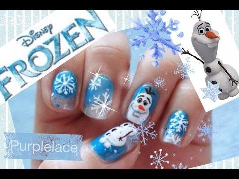 Olaf Inspired Nailart Frozen