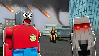HAUNTED STATUE CAUSES DISASTERS IN LEGO CITY! - Brick Rigs Roleplay Gameplay