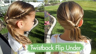 Twistback Flip Under | Cute Girls Hairstyles