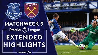 Everton v. West Ham United | PREMIER LEAGUE HIGHLIGHTS | 10/19/19 | NBC Sports
