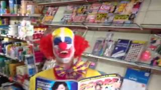 Clown buys a dirty mag - starring Big Brother winer Pete Be