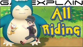 All 18 Rideable Pokémon in Pokémon Let's Go Pikachu & Eevee!