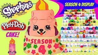 SHOPKINS SEASON 4 PLAY DOH CAKE | Special Edition Petkin Flicker Candle | 12 & 5 Pack Crates