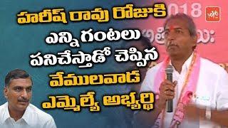 TRS MLA Candidate Chennamaneni Ramesh Babu about Harish Rao at Vemulawada Public Meeting