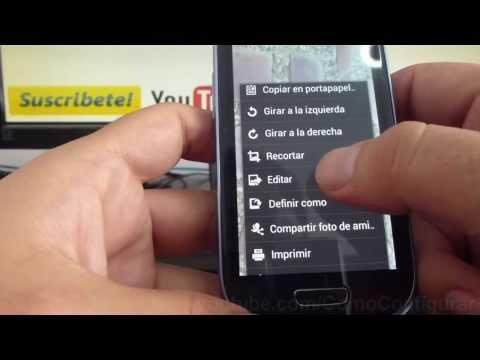 como editar fotos celular en samsung Galaxy s3 mini i8190 español Full HD