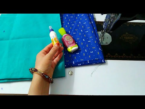 बिना बुकरम के fabric glue से बनाए beautiful Nec Design सबसे अलग तरीका/Latest Neck Design helpful tip