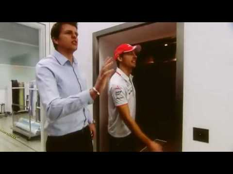 Jenson Button - tour around McLaren Technology Centre - BBC interview