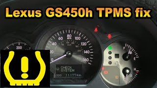 Lexus GS450h TPMS replacment fix