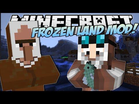 Minecraft   FROZEN LAND MOD! (Epic Ice Slides!)   Mod Showcase