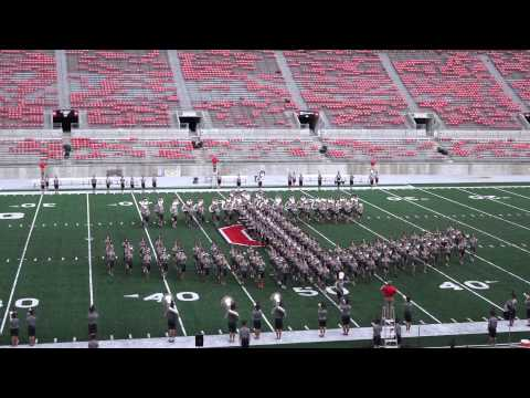 Ohio State Marching Band 8 24 2014 Navy vs OSU Halftime + Dbl Script Ohio at Band Family Concert