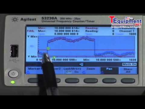 Agilent 53200 Series Frequency Counter Math Function Limits