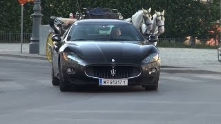 Loud Maserati GranTurismo S cruising through Vienna