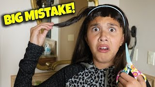I TRIED TO CUT MY OWN HAIR!!! BIG MISTAKE!