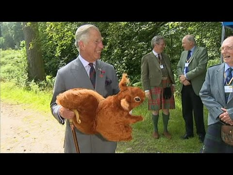 Prince Charles given large cuddly squirrel for Prince George