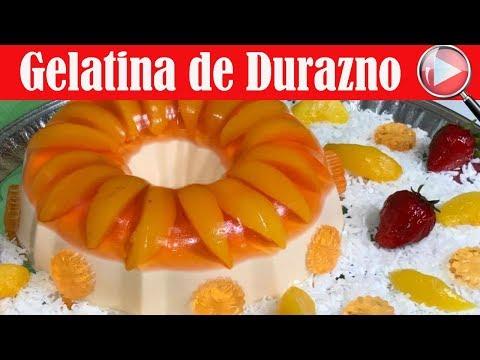 Gelatina de Durazno y Queso Crema - Postre Delicioso - Recetas en Casayfamiliatv