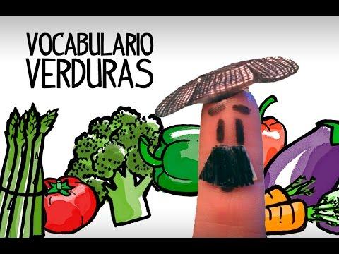 Vocabulario Verduras Español, Aprender Vocabulario Español