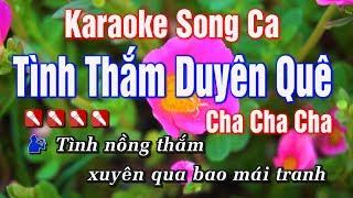 Karaoke || Tình Thắm Duyên Quê Song Ca || Nhạc Sống Duy Tùng