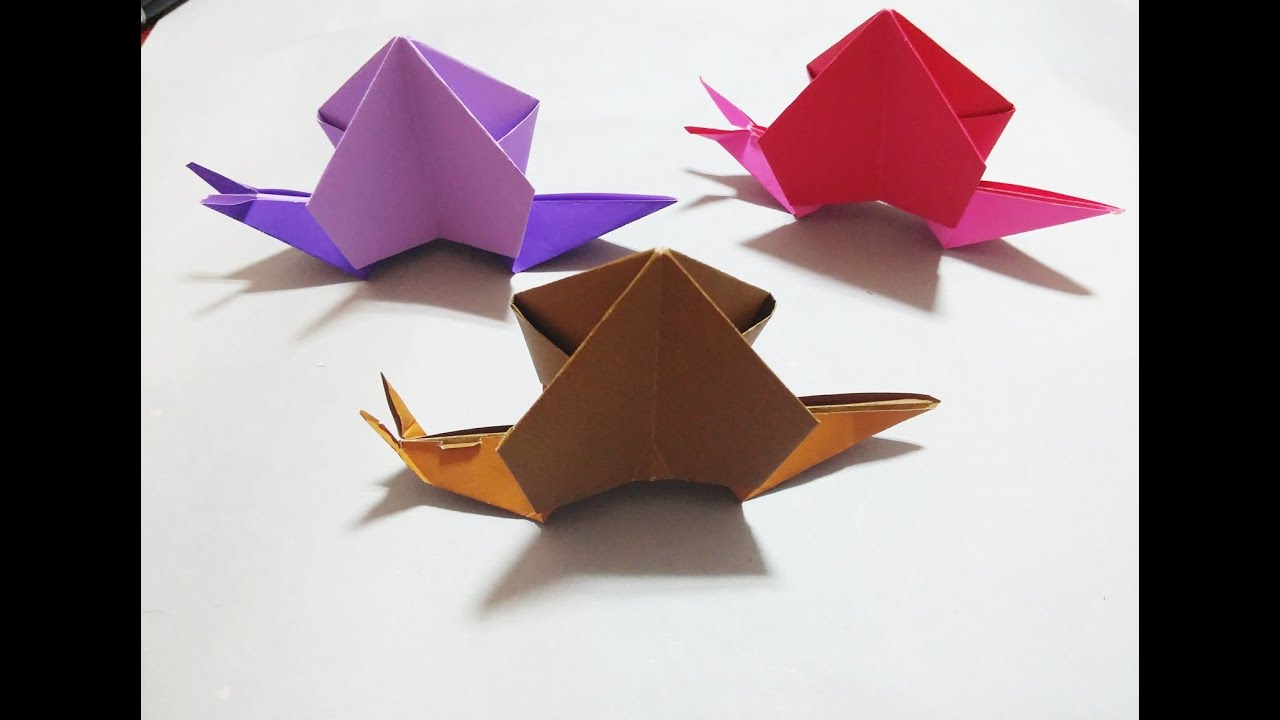 달팽이 종이접기 Origami Snail - YouTube - photo#9