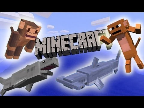 MineCraft 1.6 Community Speaks: Monkeys, Sharks, Bananas!