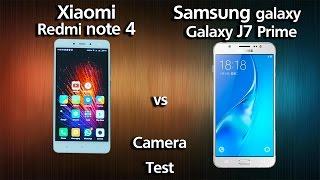 Samsung Galaxy J7 prime vs Xiaomi Redmi Note 4 - Camera Test (English Sub)