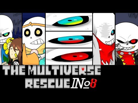 Comics The Multiverse Rescue | Undertale Глава 3 часть 8 (Озвученный Комикс)🎙️