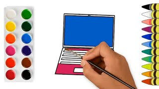 Drawing a Laptop | Learn to Draw | Learn Colors | Educational Video for Kids