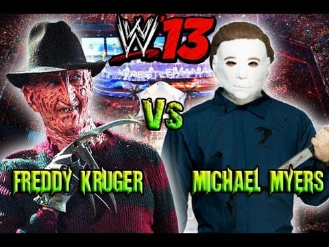 Michael Myers Vs Freddy Krueger - Fantasy Showdown - WWE