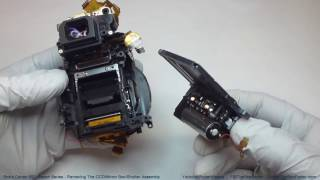 Canon 60D Repair Series - Video #3, Removing The CCD/Mirror Box/Shutter Assembly