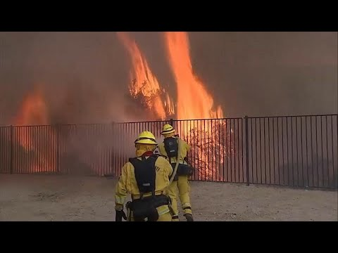 """Thousands moved out the path of a """"Holy Fire"""" in California"""