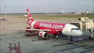 Smooth Landing RWY 25 R flight AirAsia QZ257 DMK-CGK 07.02.2019 Airbus A320-200 PK-AXH