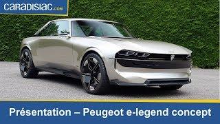 Présentation Peugeot E-Legend : hommage à la 504 Coupé