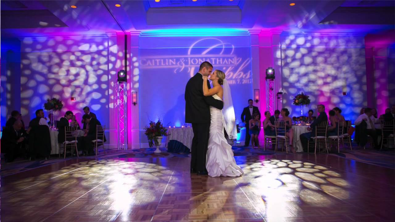 Amazing wedding reception at the newport hyatt in ri for Wedding video lighting