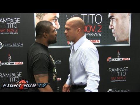 Rampage vs Tito Full press conference between Rampage Jackson  Tito Ortiz