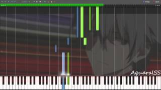 [Synthesia] Evangelion 3.0 - Sakura Nagashi -Paul.C Arr.- (Piano Tutorial + DPS)