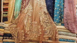 Fabric Designs #10 - Beauty Queen Fabric Dresses Girls | Embroidery Designer 2018 | Hand Work Fabric