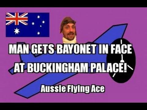 MAN GETS BAYONET IN THE FACE AT BUCKINGHAM PALACE!