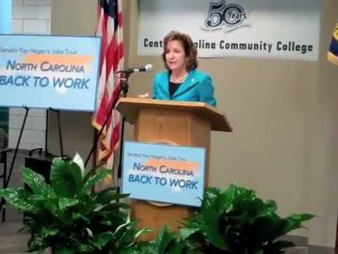 Highlights from Senator Kay Hagan's Talk at Central Carolina Community College