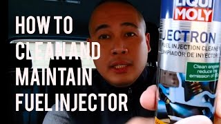 VW/Audi Car Fuel Injector Cleaning Maintenance With Liqui Moly Jectron Fuel Injector Cleaner