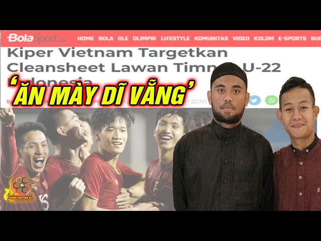 """Trước giờ 'G',BÁO INDO có màn """"CẦU NGUYỆN"""" trước U22 Việt Nam thumbnail"""