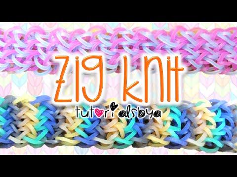 NEW Zig Knit Rainbow Loom Bracelet Tutorial | How To
