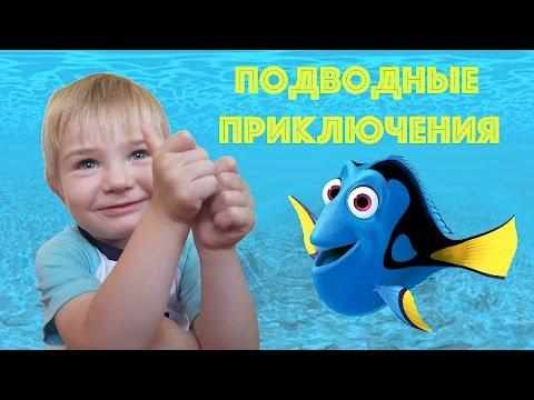 видео макс ловит рыбу в бассейне