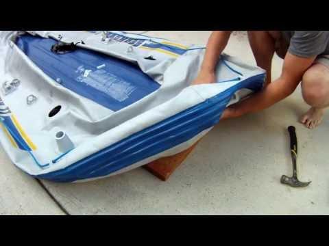 How to make a cheap Self-Bailing Raft - Intex SeaHawk II
