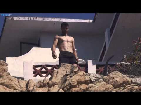 Grigor Dimitrov Cliff Dive Acapulco 2015