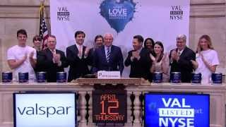 Valspar announces Valspar Love Your Color Guarantee™ and rings the NYSE Closing Bell