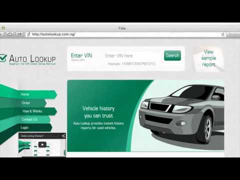 AutoLookup.com.ng - Nigeria's 1st Vehicle History Report online service
