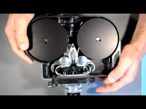 Loading a Bolex 16mm Movie Camera