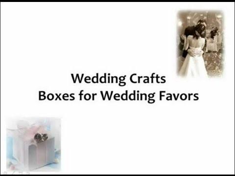 Cheap Wedding Favor Ideas How To Make Wedding Favor Boxes YouTube
