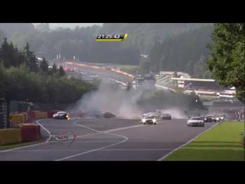Huge Pile Up @ 2014 Spa 24H