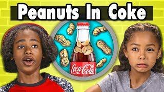 Kids Eat Weird Food Combinations (Peanuts in Coke) | Kids Vs. Food